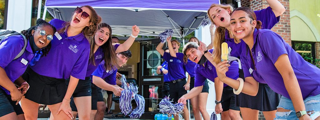 group of students at spring hill college event